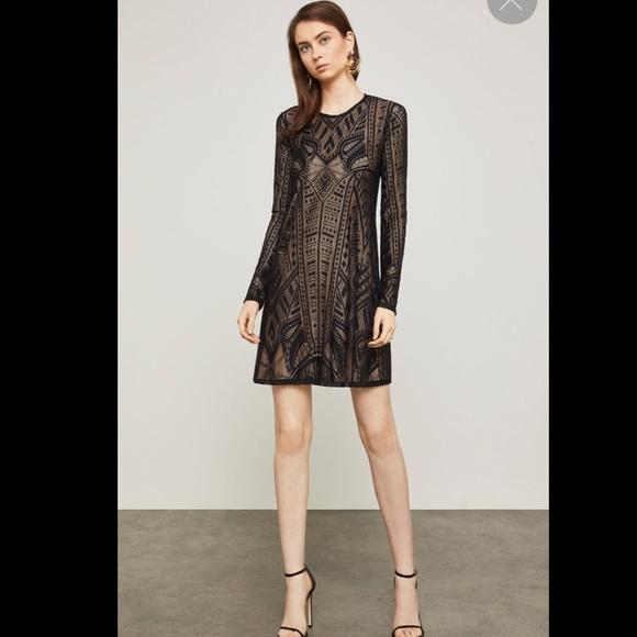 018817a06b BCBG Natyly Long-Sleeve Lace Dress NWT